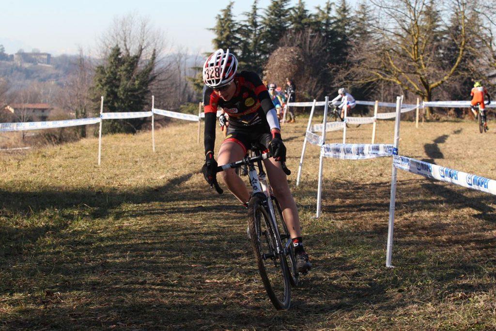 Sylvie Truc nel ciclocross di Lurago d'Erba